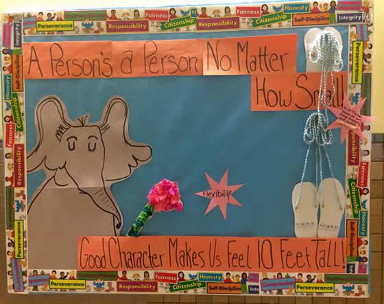 Character Trait Bulletin Board